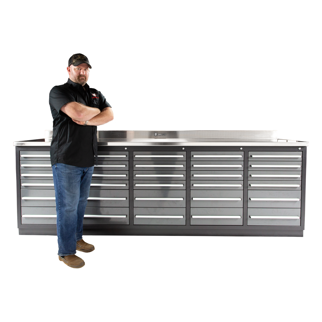 Superb 30 Drawer Midnight Pro Series 9Ft 4 1 4 Workbench Alphanode Cool Chair Designs And Ideas Alphanodeonline