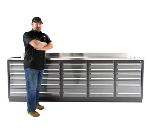 30 Drawer Industrial Tool Bench