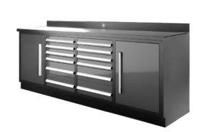 Dragon Fire 12 Drawer Midnight Pro Series Workbench