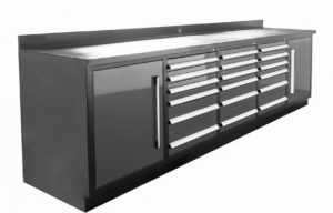 Dragon Fire 18 Drawer Midnight Pro Series Workbench