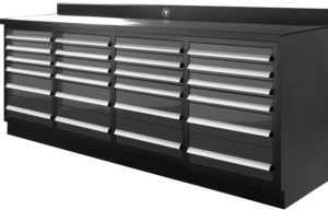 Dragon Fire 24 Drawer Midnight Pro Series Workbench