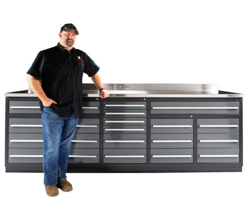 Garage Workbench with Drawers
