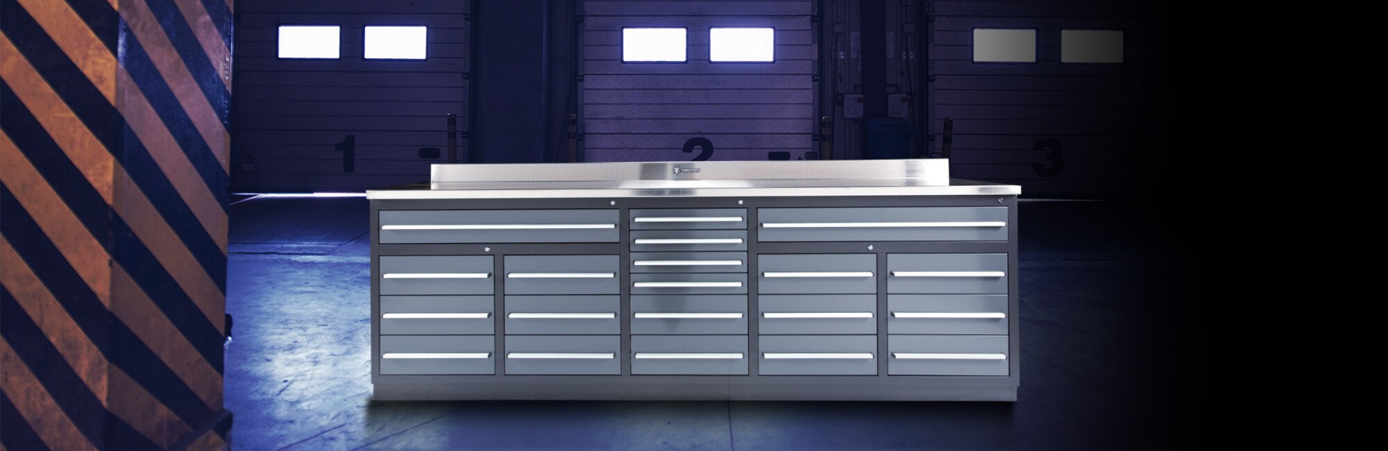 20 Drawer Heavy Duty Industrial Workbench with Drawers