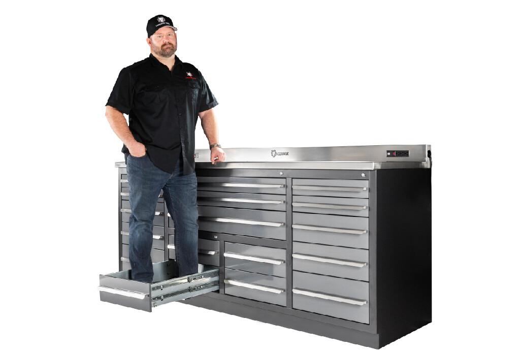 17 drawer Midnight Pro Series Workbench