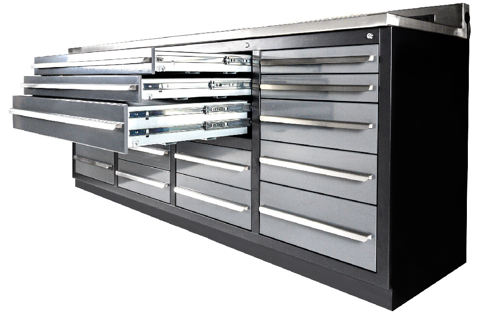 Stainless Steel Tool Bench with Drawers